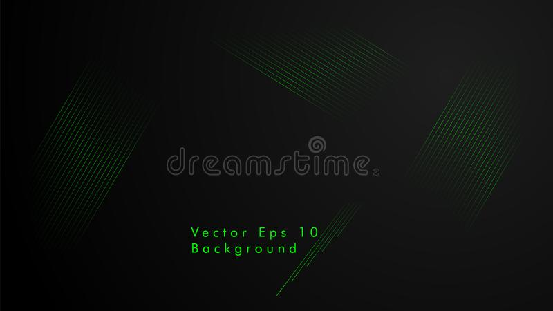 Abstract vector background. Geometric Lines - Creative and Inspiration Design . Green color royalty free illustration