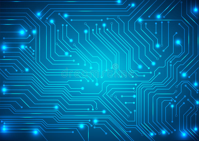 Abstract vector background with high tech circuit board vector illustration