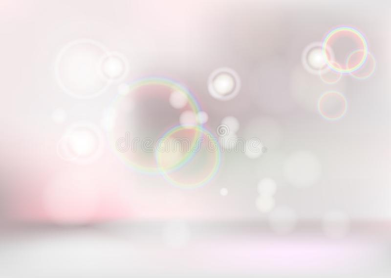 Abstract vector background. Pastel color for advertising. Glowing circle.  stock illustration