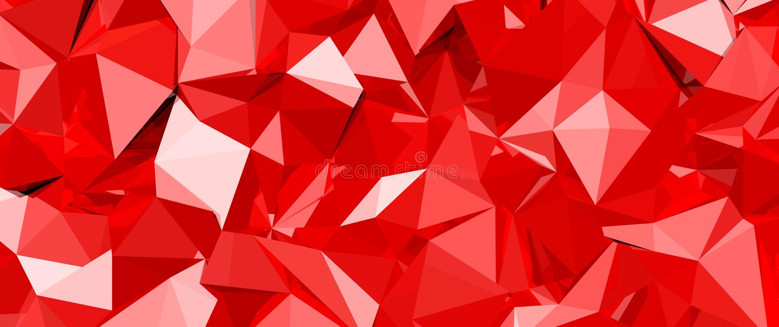 Abstract vector background. Red 3D crystal glass with reflections, abstract vector background vector illustration