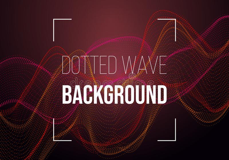 Abstract vector background with red dotted wave royalty free stock photos