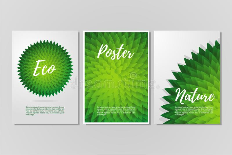 Abstract vector background set. Trendy geometric posters template. Cover with vibrant gradient. stock illustration