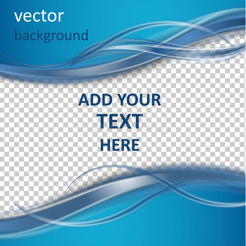 Abstract vector background. With smooth shiny blue waves royalty free illustration