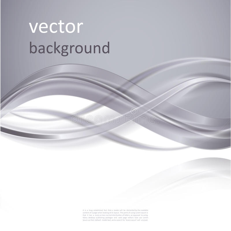 Abstract vector background. With smooth shiny grey, gray waves vector illustration