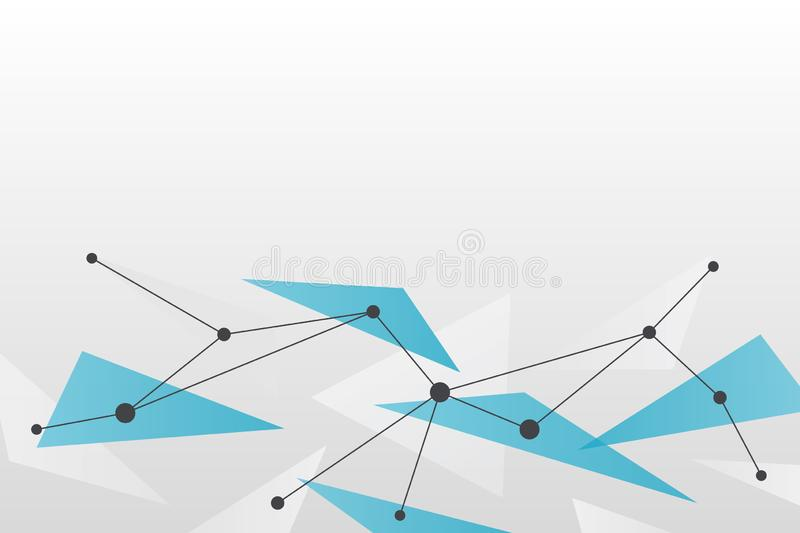 Abstract vector background. Triangle network pattern. Grey blue white illustration for technology, science, neural, structure, net vector illustration