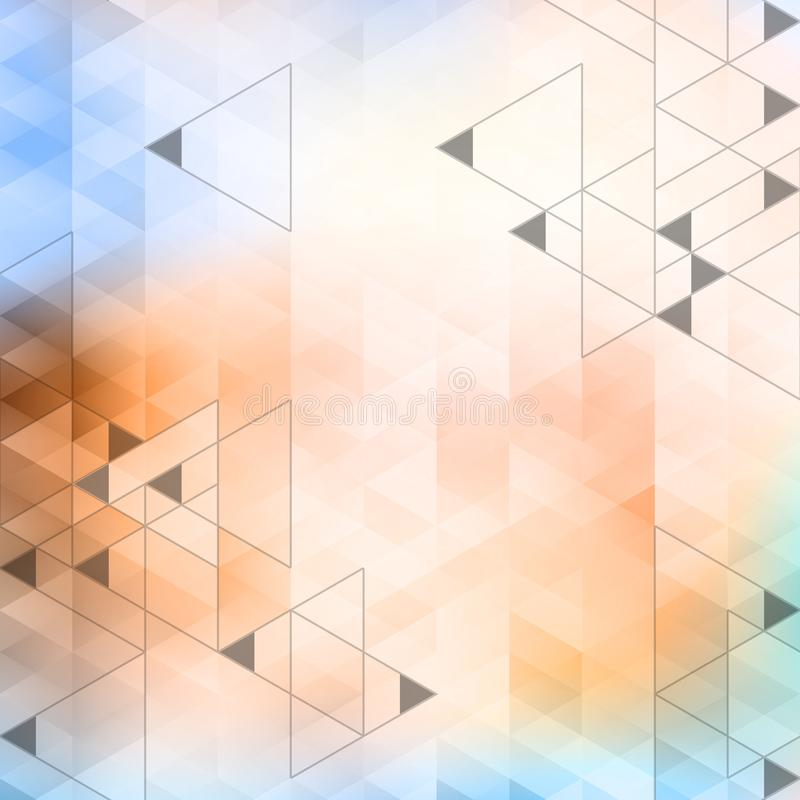Abstract vector background. Abstract triangles background. Vector illustration. Used meshes and transparency layers of particles vector illustration