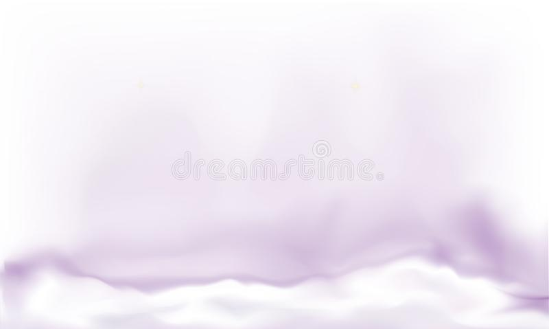 Abstract vector background, violet dense fog royalty free illustration