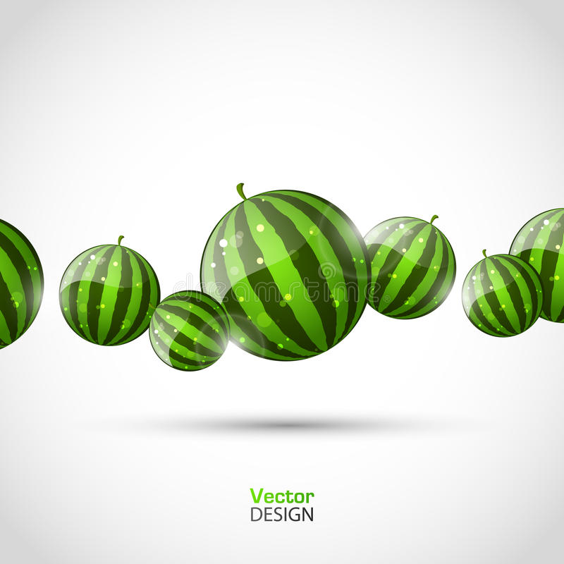 Abstract vector background with watermelons stock photo