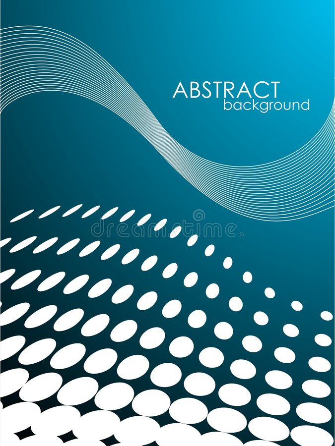 Abstract vector background with white circles. Abstract vector background with white circle pattern and text space royalty free illustration