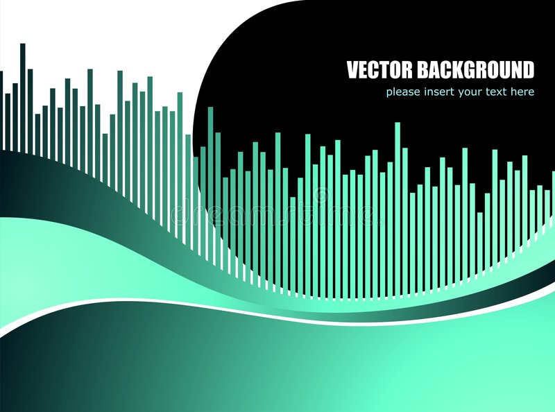 Abstract vector background with white wave pattern. Abstract vector background with diagram wave pattern stock illustration