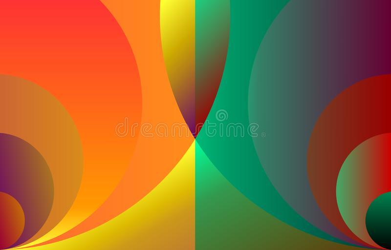 Vector Abstract yellow and sea green colorful, circular geometrical, background,illustration vector illustration