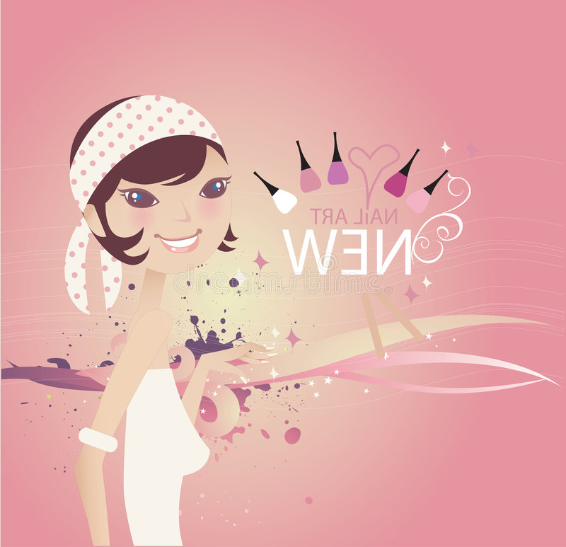 Free Abstract Vector Background_Girl 002 Royalty Free Stock Photo - 6609145