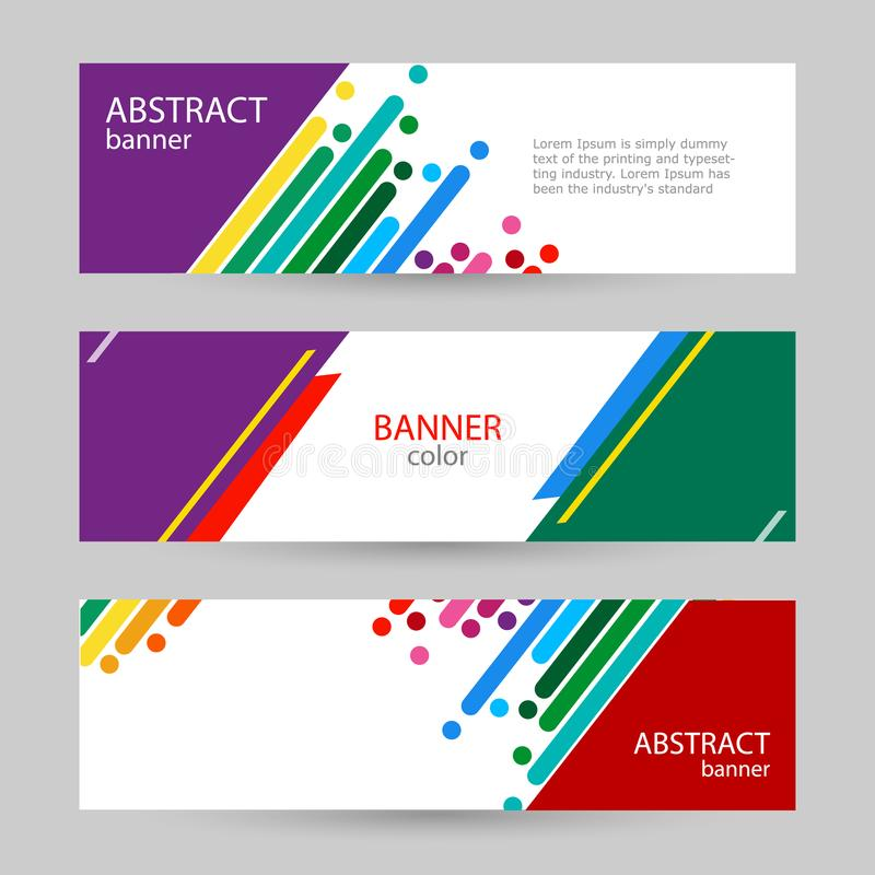 Abstract vector backgrounds. Colorful rainbow stripes on a white stock illustration