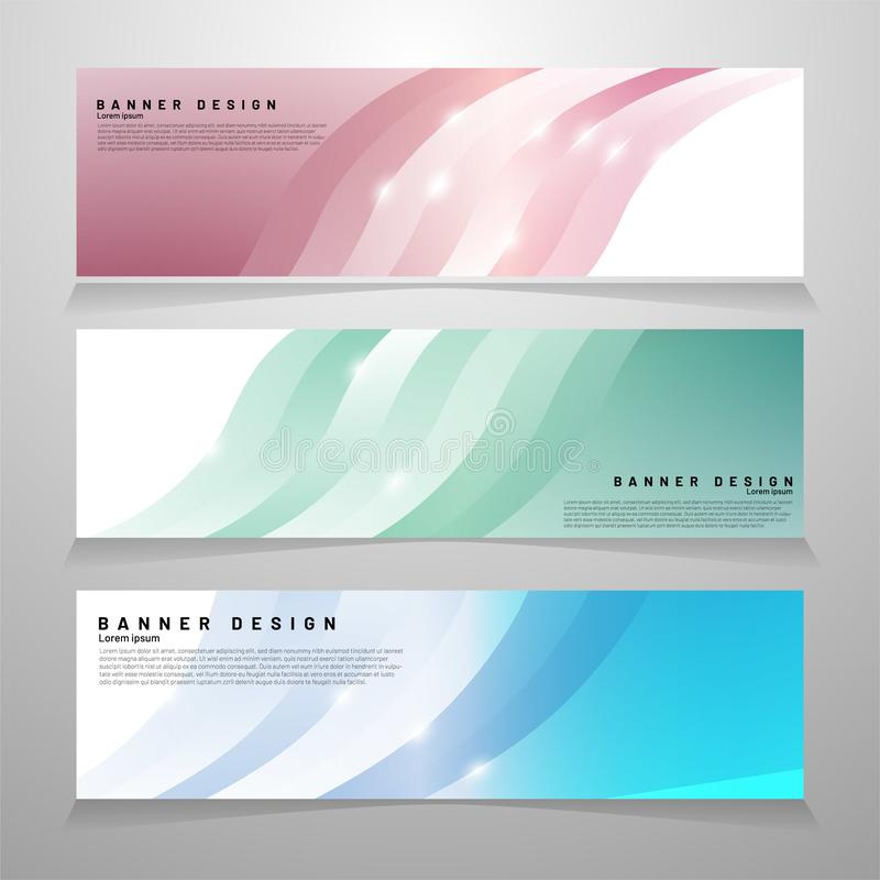 Abstract vector banner web design template. Abstract geometric background. ideal for anything royalty free illustration