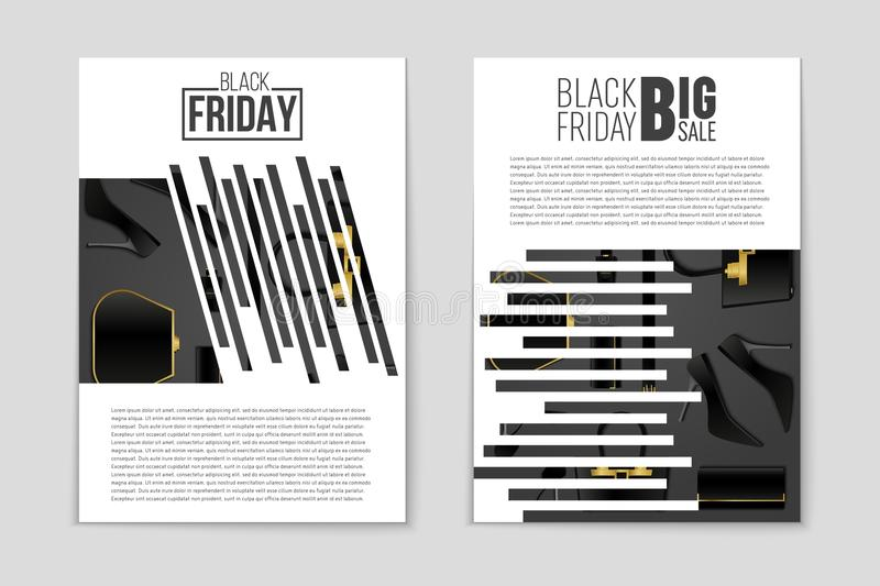 Abstract vector Black Friday layout background. For creative art design, list, page, mockup theme style, banner, concept. Abstract vector 2016 Black Friday vector illustration