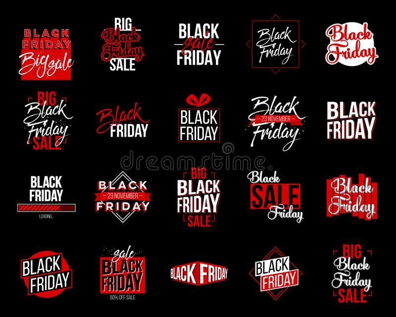 Abstract vector black friday sale lable tag set. For art template design, list, page, mockup brochure style, banner. Idea, cover, booklet, print, flyer, book stock illustration