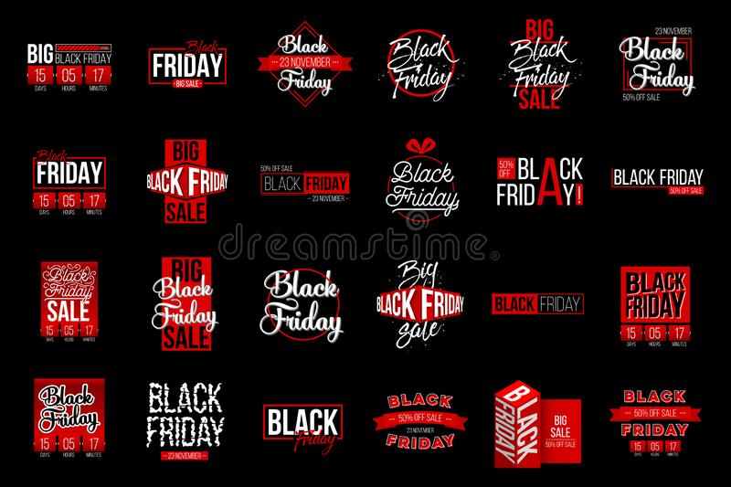 Abstract vector black friday sale lable tag set. For art template design, list, page, mockup brochure style, banner. Idea, cover, booklet, print, flyer, book vector illustration