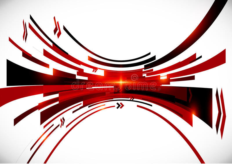 Abstract vector black and red perspective stock illustration