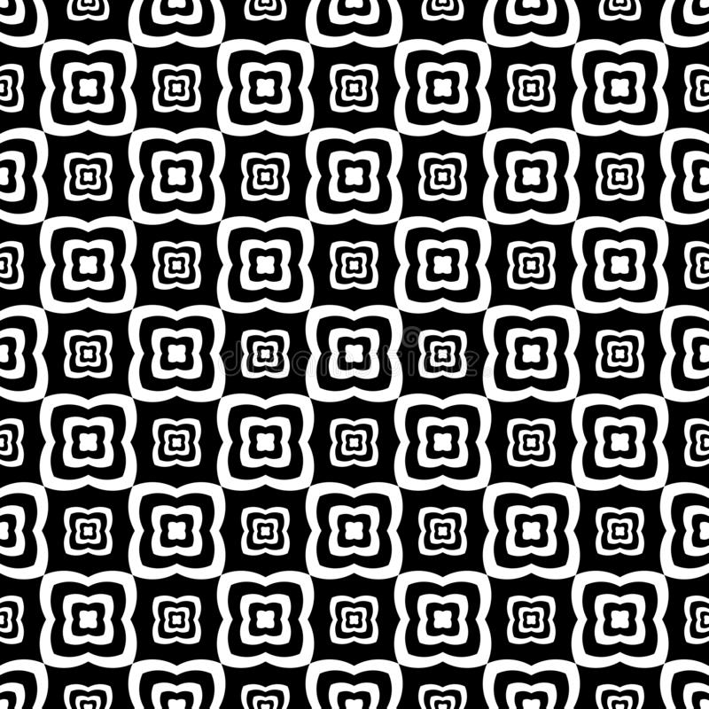 Abstract Vector Black and White  Floral seamless pattern Design vector illustration