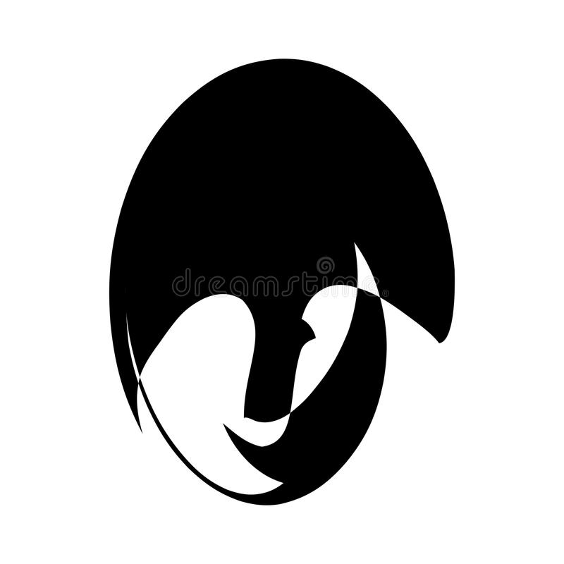 Abstract vector black and white logo design for men`s parlor. vector illustration stock illustration