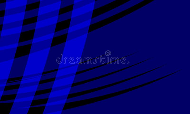 Abstract vector blue and black shaded wavy background with, smooth, curve, vector illustration. Many uses for paintings,printing,mobile backgrounds, book,covers stock illustration