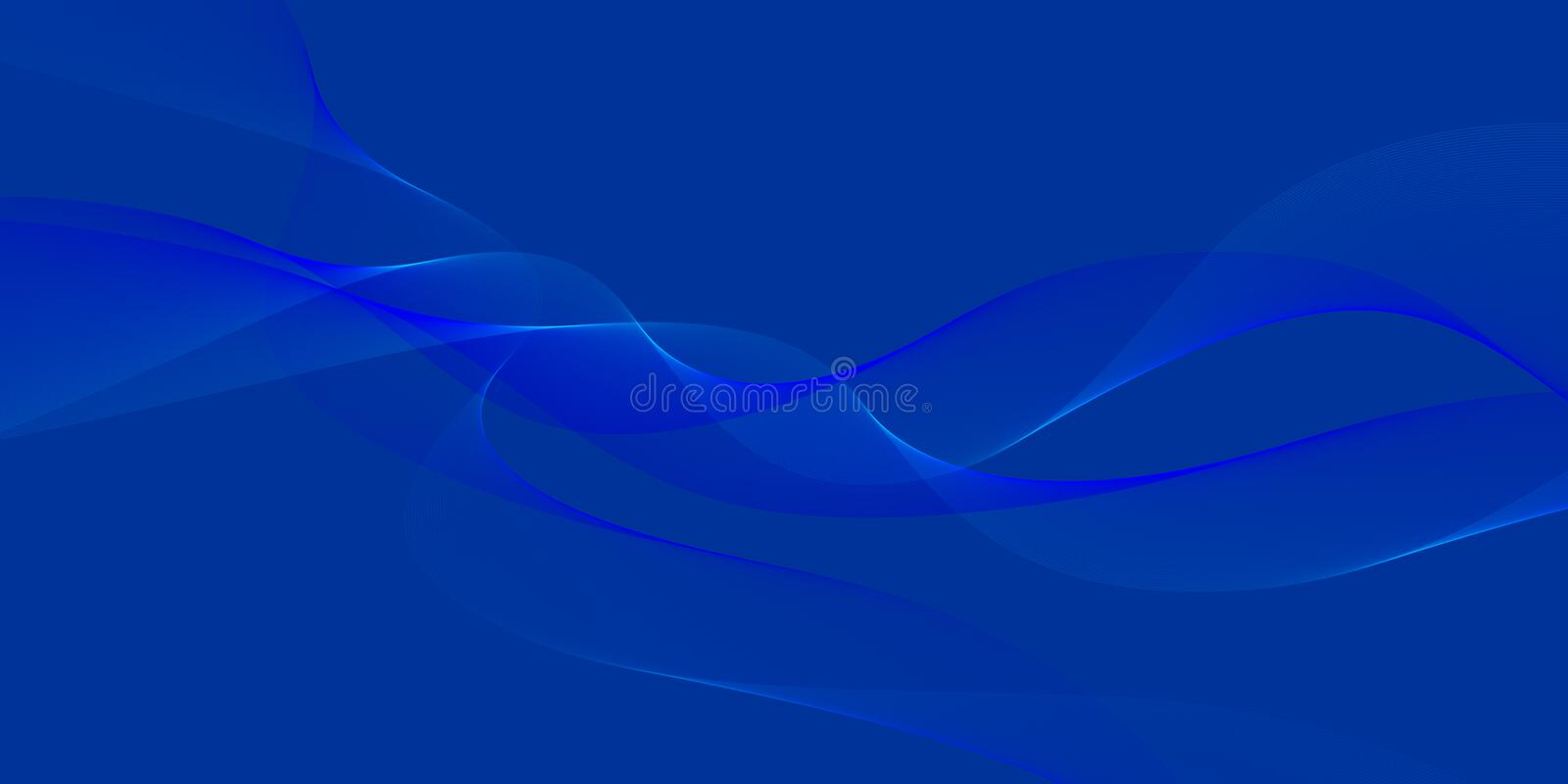 Abstract Vector Blue Blur Wavy Background vector illustration