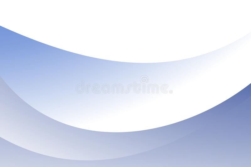 Abstract vector blue to white shaded wave with black Background. Vector Illustration stock illustration