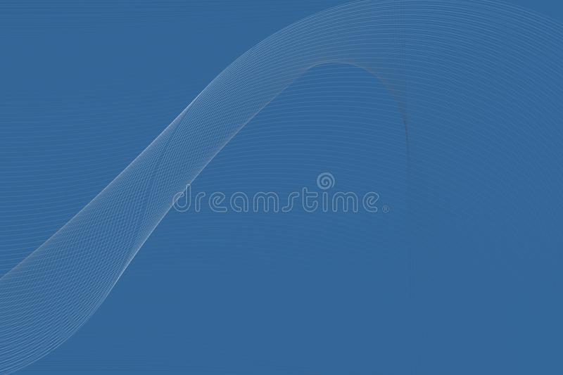 Abstract vector blue to white shaded wavy lining background, vector illustration