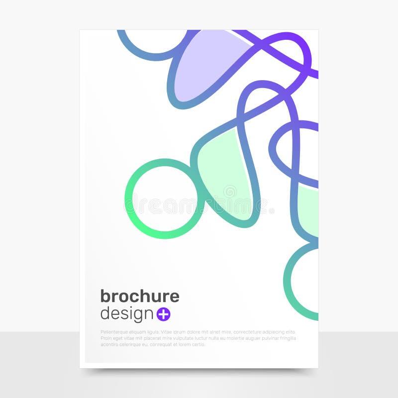 Abstract Vector Brochure Design. Creative Vector Brochure Mockup. Business Brochure Backgrounds. EPS10 stock illustration