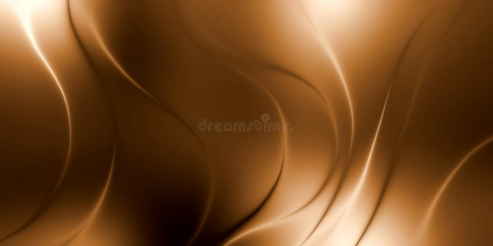 Abstract vector brown shaded wavy background, vector illustration stock images