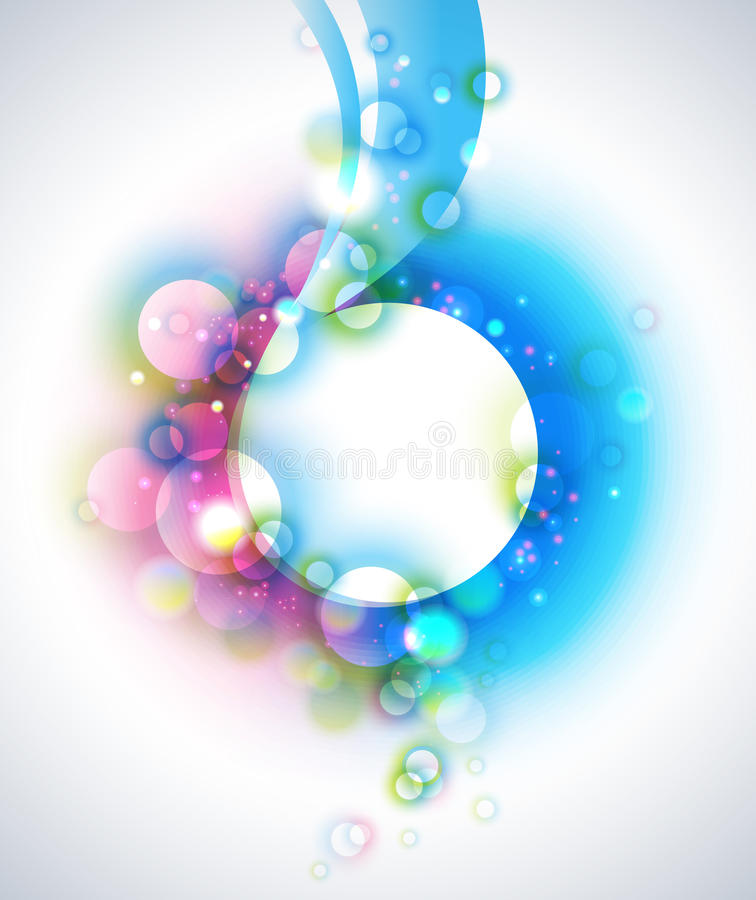 Abstract Vector Bubbles Background royalty free illustration