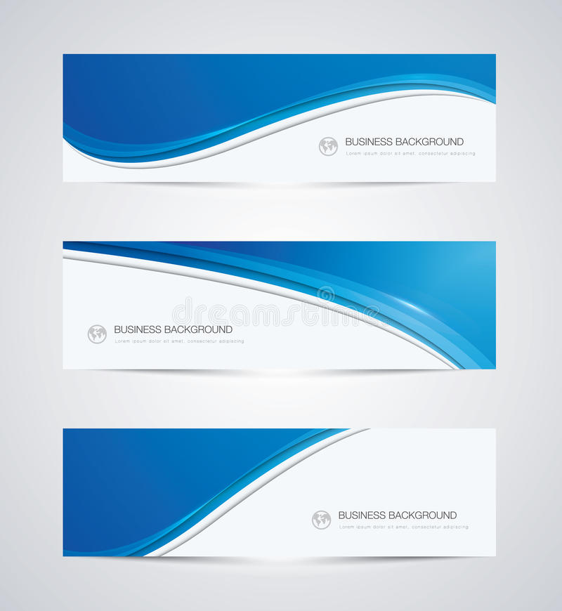 Abstract vector business background banner royalty free illustration