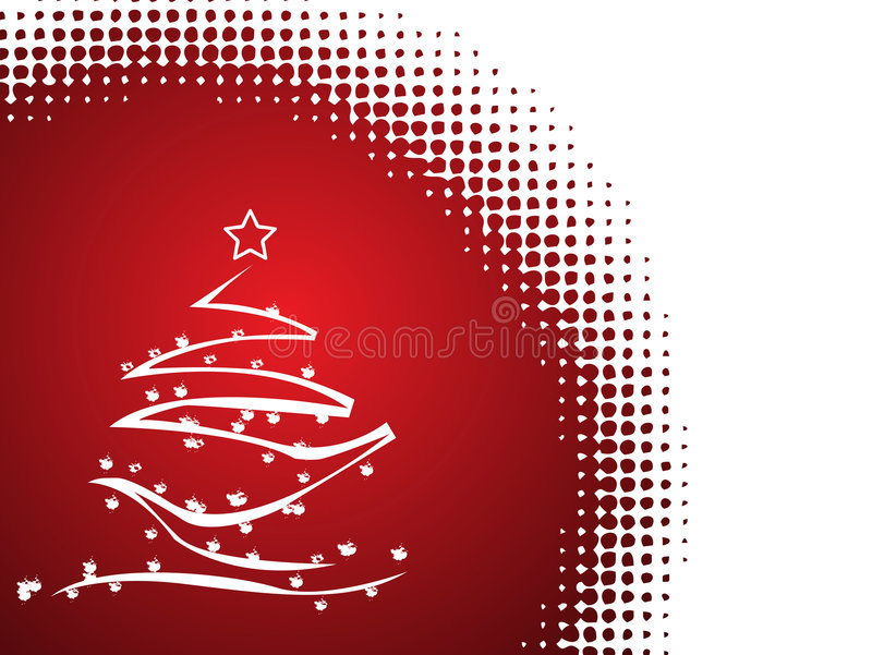 Abstract vector Christmas tree. Background royalty free illustration