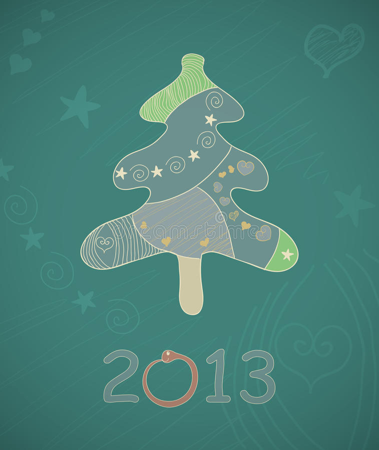 Download Abstract Vector Christmas Tree. Stock Vector - Image: 35871025