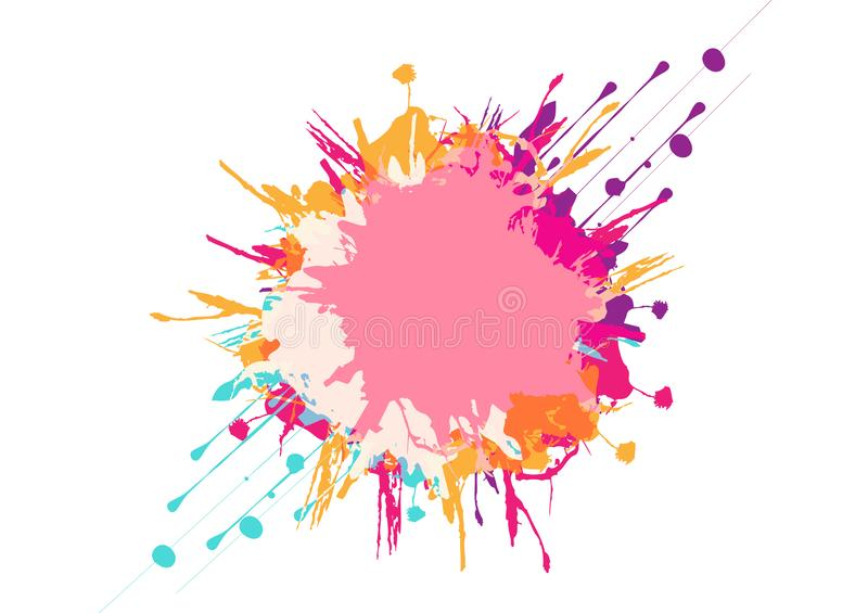 Abstract vector colorful background design. illustration vector design. Abstract vector splatter colorful background design. illustration vector design royalty free illustration