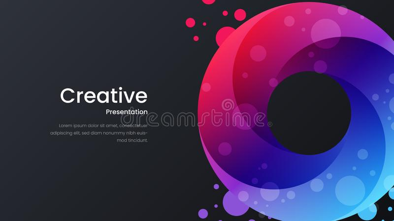 Abstract vector colorful design template for poster, flyer, magazine, journal, brochure, book cover, banner, landing page. stock illustration