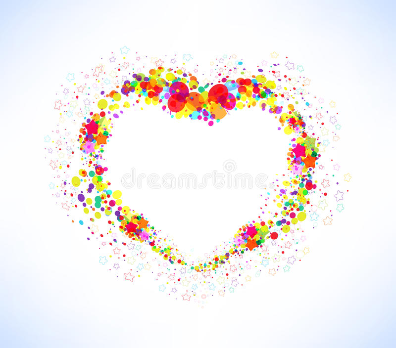 Abstract vector colorful heart shape background vector illustration