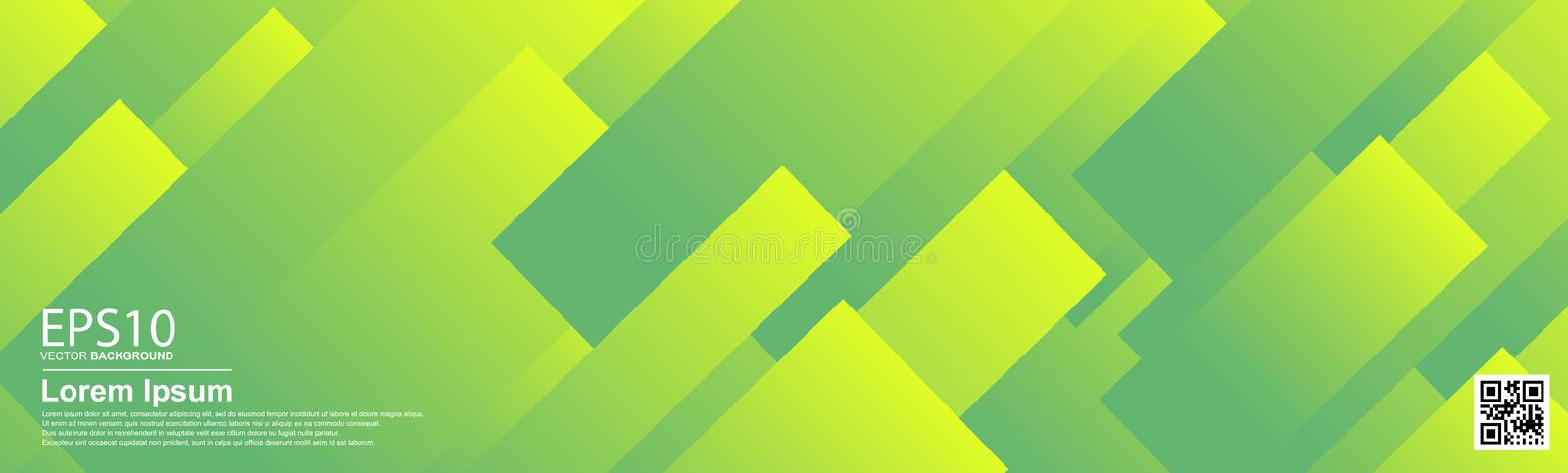 Abstract vector colorful pattern background. UFO Green. Poster, banner template stock illustration