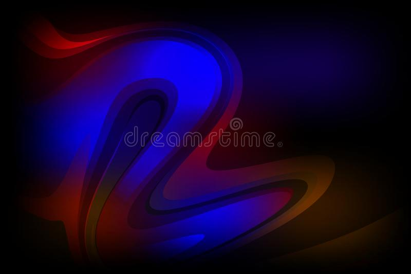 Abstract vector colorful shaded wavy background with lighting effect, smooth, curve, vector illustration. Many uses for paintings,printing,mobile backgrounds stock illustration