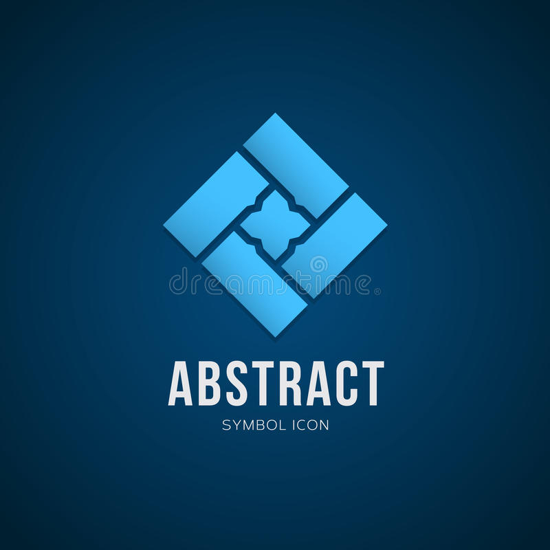 Abstract Vector Concept Symbol Icon or Logo vector illustration