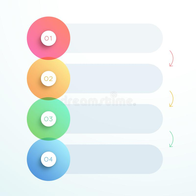 Abstract Vector 3d Circle Number Steps 1 To 4 Stock Vector ...