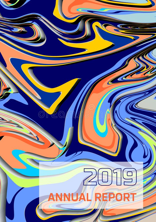 Abstract vector 3D colorful acrylic paint style. Annual report, flyer, abstract background concept stock illustration
