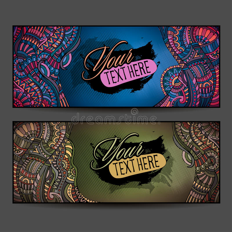 Abstract vector decorative ethnic ornamental backgrounds stock illustration