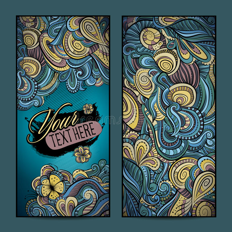 Abstract vector decorative ethnic ornamental backgrounds. Series of image Template frame design for card royalty free illustration