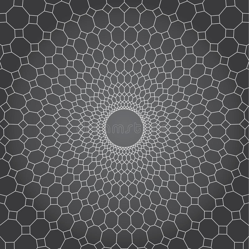 Abstract vector design gray background, line and diamond to circle net stock illustration