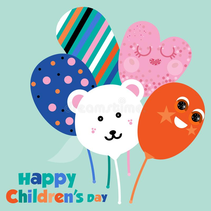 Abstract vector design of Happy Children`s Day vector illustration