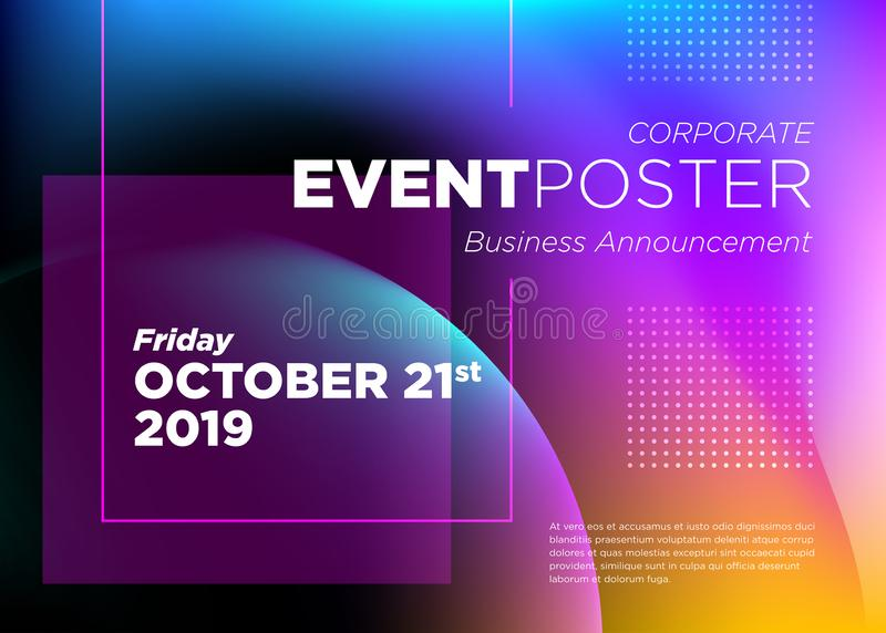Abstract Vector Dynamic Background. Futuristic Poster. stock illustration