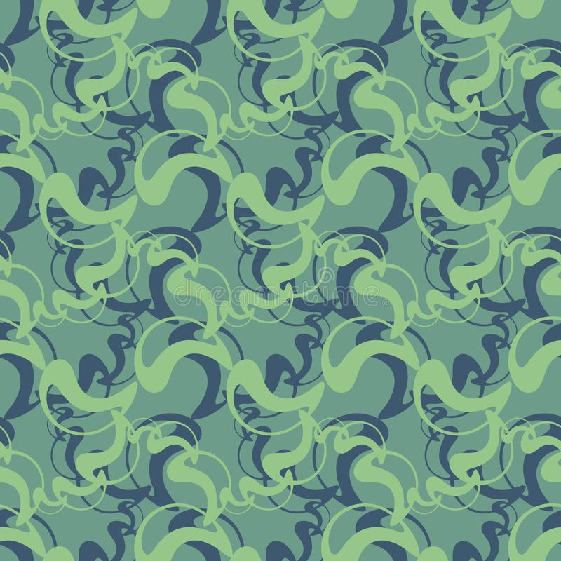 Abstract vector elements on cold pattern. Vintage seamless design for fabric, web, wallpaper, wrapping paper royalty free illustration
