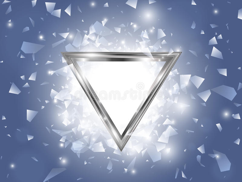 Abstract Vector Explosion With Triangle Frame. EPS10 stock illustration