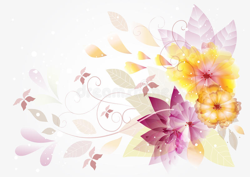 Abstract vector floral background with space royalty free illustration